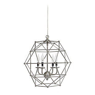 Home Accents Elegant Designs 4 Light BSN Hexagon Industrial Rustic Pendant, , large