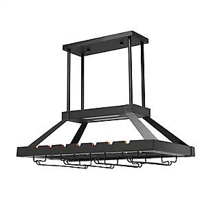 Home Accents Elegant Designs 2 Light LED Overhead Wine Rack, Oil Rubbed Brz, Bronze, large