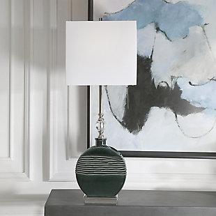 Uttermost Recina Dark Teal Buffet Lamp, , rollover