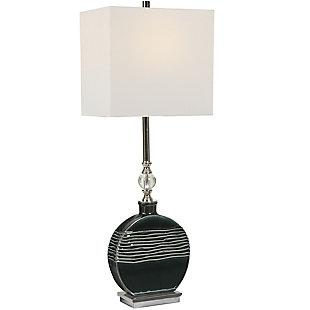 Uttermost Recina Dark Teal Buffet Lamp, , large