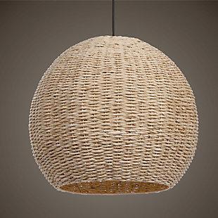 Uttermost Seagrass 1 Light Dome Pendant, , rollover