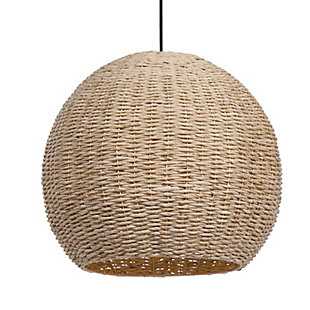 Uttermost Seagrass 1 Light Dome Pendant, , large