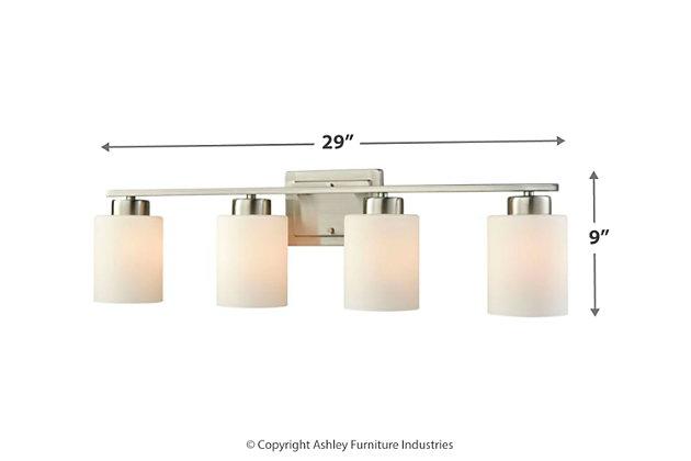 Three Light Bath Vanity Fixture, Brushed Nickel, large