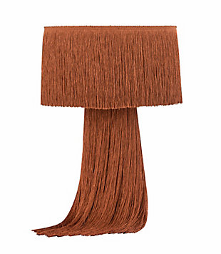 TOV Atolla Brick Tassel Table Lamp, Red, large