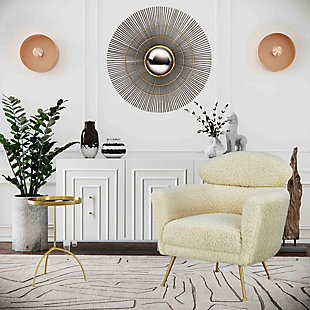 TOV Mokhtar Blush Round Wall Sconce, , rollover