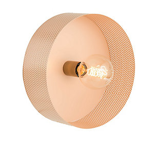 TOV Mokhtar Blush Round Wall Sconce, , large
