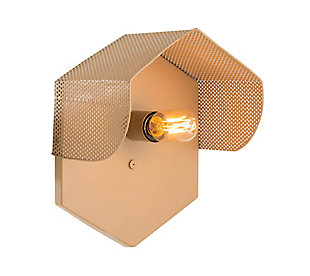 TOV Mokhtar Tan Hexagon Wall Sconce, , large