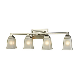 Four Light Bath Vanity Fixture, Brushed Nickel, large