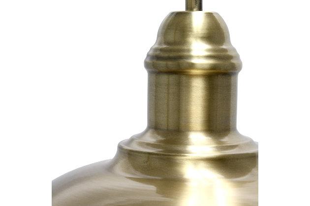 Lalia Home Lalia Home Modern Farmhouse 1 Light Floor Lamp, Antique Brass, Antique Brass, large