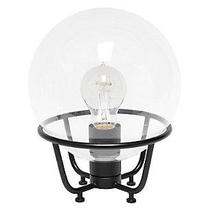 Lalia Home Lalia Home Old World Globe Glass Table Lamp, Black, Black, large