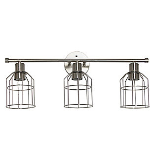 Lalia Home Lalia Home 3 Light Industrial Wired Vanity Light, Brushed Nickel, Brushed Nickel, large