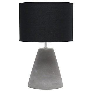 Simple Designs  Simple Designs Pinnacle Concrete Table Lamp, Black, Black, large