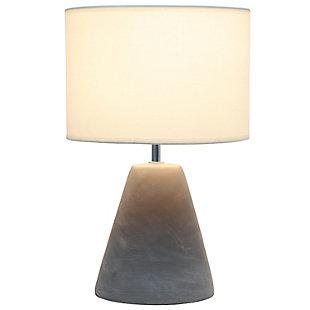 Simple Designs  Simple Designs Pinnacle Concrete Table Lamp, White, White, large