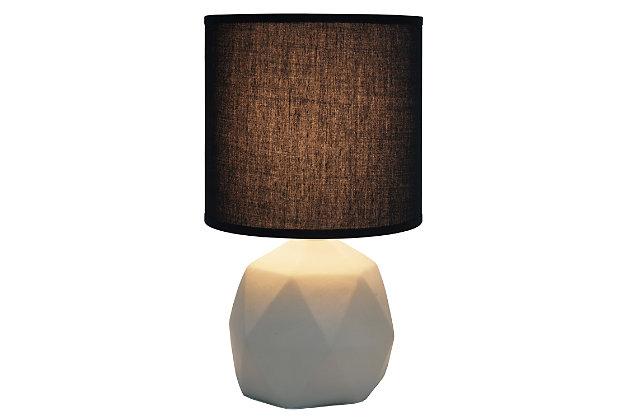 Simple Designs  Simple Designs Geometric Concrete Lamp, Black, Black, large
