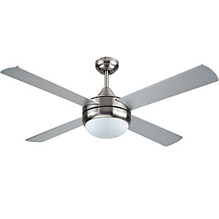 BLACK+DECKER 52-Inch 4-Bladed Remote Controllable Brushed Nickel Ceiling Fan, , large