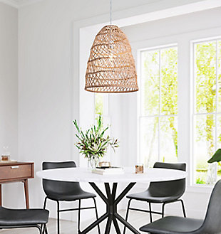 ZUO Saints Ceiling Lamp Natural, , rollover