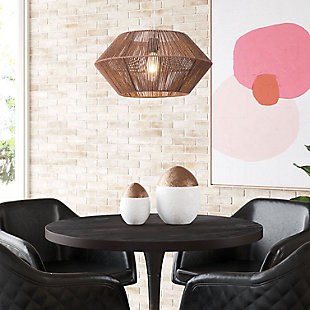 ZUO Kendrick Ceiling Lamp Brown, , rollover