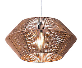 ZUO Kendrick Ceiling Lamp Brown, , large