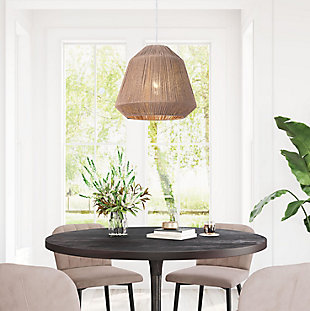 ZUO Impala Ceiling Lamp Brown, , rollover