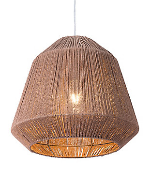 ZUO Impala Ceiling Lamp Brown, , large