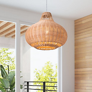 ZUO Vincent Ceiling Lamp Natural, , rollover