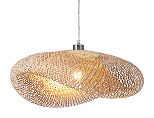 ZUO Weekend Ceiling Lamp Natural, , large