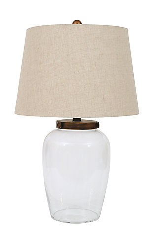 Creative Co-Op Glass Fillable Table Lamp with Shade, , large
