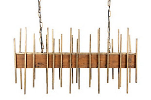 """Creative Co-Op 35.5"""" Wood Pendant Light with Metal Rods, , large"""