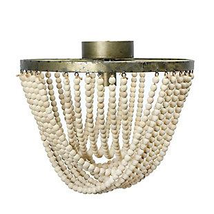 Creative Co-Op Draped Wood Bead and Metal Semi-Flush Light, , large