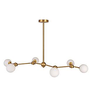 Creative Co-Op 6-Light Sputnik Sphere Chandelier, , large