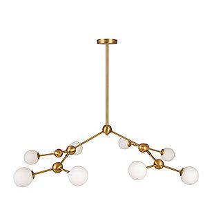 Creative Co-Op 8-Light Sputnik Sphere Chandelier, , large
