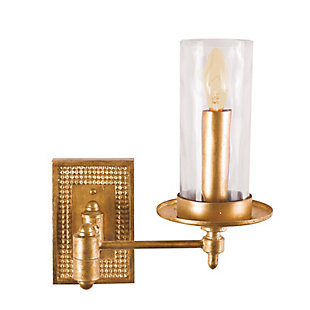 Creative Co-Op Metal and Glass Wall Sconce, Gold, , large