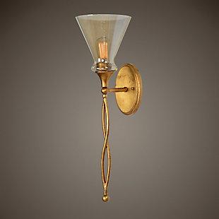 Uttermost Glam 1 Light Gold Sconce, , rollover