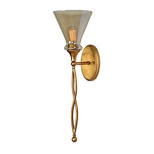 Uttermost Glam 1 Light Gold Sconce, , large