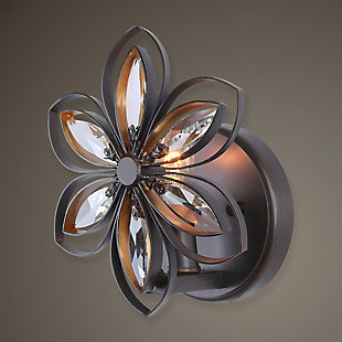 Uttermost Posey 1 Light Floral Sconce, , rollover