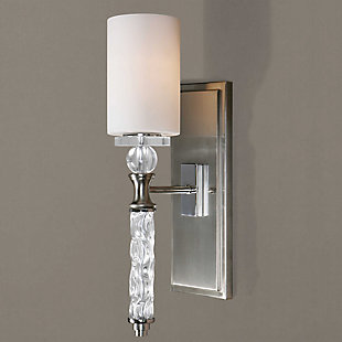 Uttermost Campania 1 Light Carved Glass Sconce, , rollover