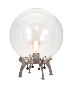 Image of Electrode Oversized Glass Table Lamp, Metallic