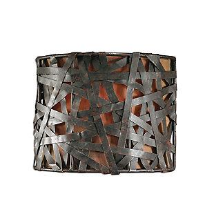 Uttermost Alita 1 Light Black Wall Sconce, , large
