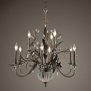 Uttermost Cristal De Lisbon 9+2 Light Chandelier, , rollover