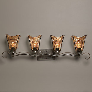 Uttermost Vetraio 4 Light Bronze Vanity Strip, , rollover