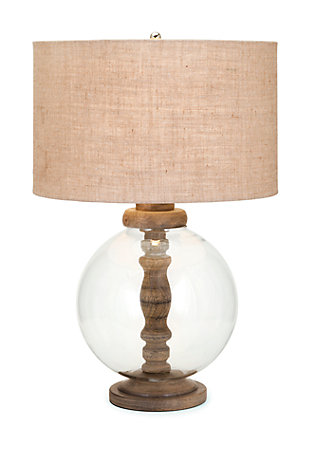 Mahin Wood and Glass Lamp, , large