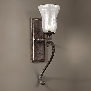 Uttermost Galeana Glass Wall Sconces, , rollover