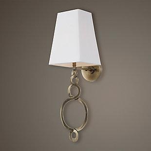 Uttermost Brambleton 1 Light Brass Sconce, , rollover
