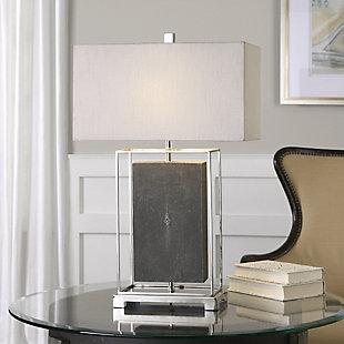 Uttermost Sakana Gray Textured Table Lamp, , rollover