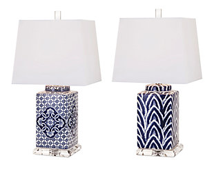 Carolina Hand-painted Lamp (Set of 2), , rollover