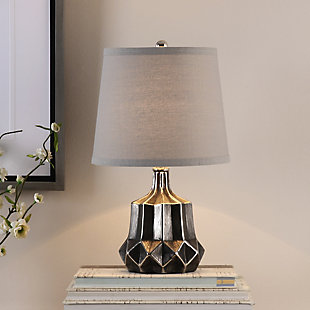 Uttermost Felice Dark Charcoal Accent Lamp, , rollover