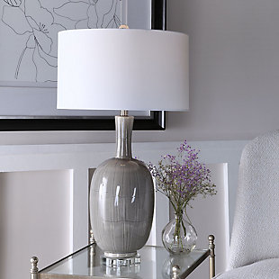 Uttermost LeAnna Gray Crackle Table Lamp, , rollover