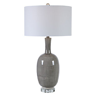 Uttermost LeAnna Gray Crackle Table Lamp, , large