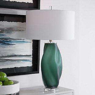 Uttermost Esmeralda Green Glass Table Lamp, , rollover