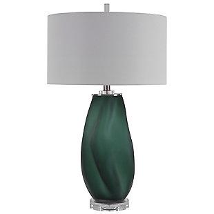 Uttermost Esmeralda Green Glass Table Lamp, , large